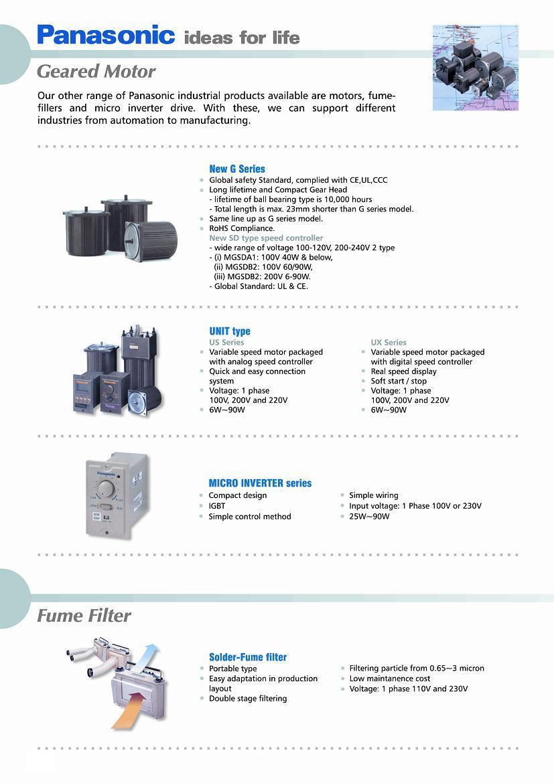 Panasonic Servo Malaysia | Panasonic Geared Motor | CNC Engraving ...